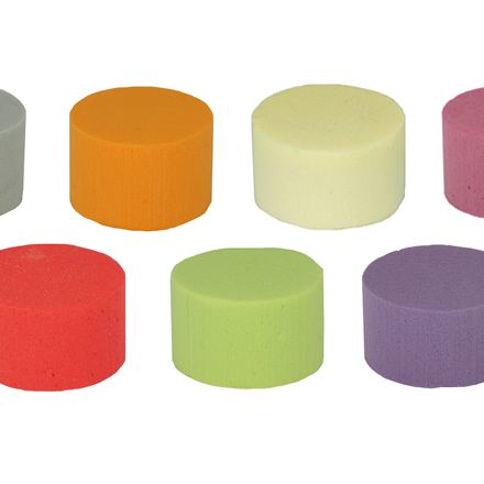 OASIS® RAINBOW® Foam Cylinders 8 cm